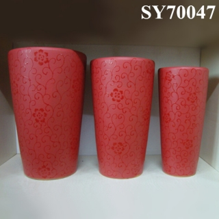 Hot new products for 2015 red ceramic tall pots