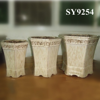 Chines style red decoration wholesale pot