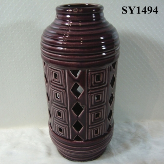 "112.5"" agate red indoor decoration ceramic candle holder"