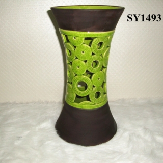 "Indoor decoration for sale 12"" hollow out wedding ceramic candle holder"