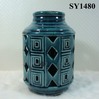 "8"" antique cheap ceramic candle holders"